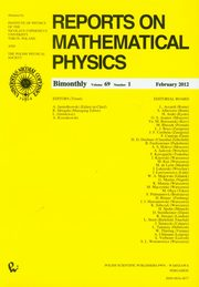 Reports on Mathematical Physics 69/1,