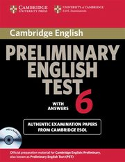Cambridge Preliminary English Test 6 Self Study Pack,