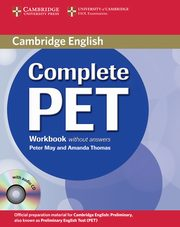 Complete PET Workbook without answers + CD, May Peter, Thomas Amanda