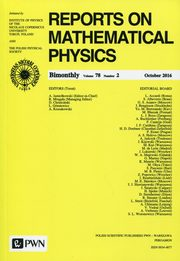 Reports on Mathematical Physics 78/2 2016 Kraj,