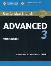 ksiazka tytuł: Cambridge English Advanced 3 with answers autor: